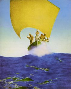 Maxfield Parrish, Codadad, Illustration from the First Edition of Arabian Nights. Published by Scribners & Sons, 1909.