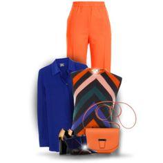 Wear it in Orange and Blue