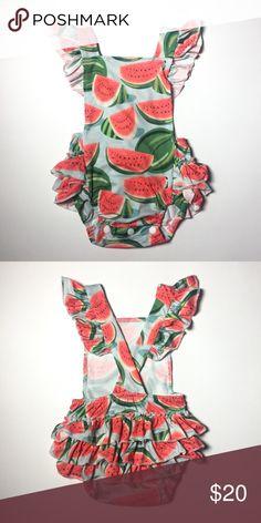 410c05a180cf Super Soft Watermelon Romper Our softest romper! One Pieces Bodysuits  Watermelon