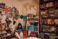 library magic 📚💫 // I'm not sure exactly when my small collection of thirty-ish books grew to something closer to three hundred, but man, nine-year old linh is elated. books (their contents, re Dream Rooms, Dream Bedroom, Ish Book, Room Goals, Vintage Room, Aesthetic Room Decor, Dream Apartment, Cool Rooms, New Room