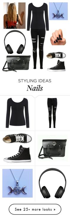 """""""Alex - At home (casual)"""" by shadow-cheshire on Polyvore featuring Miss Selfridge and Converse"""