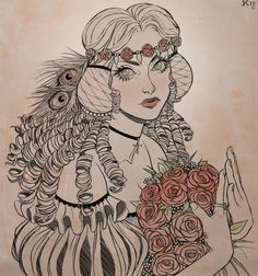 Portrait of the Rose Maiden by Kippery