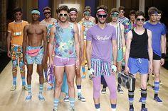 """Past meets future in Miami"", SS/2015 collection, 080 Barcelona Fashion, men underwear. By Punto Blanco."