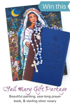 Inspiring art, a beautiful book and a sterling silver rosary . just what you need to reinvigorate your prayer life! Blessed Mother Mary, Blessed Virgin Mary, Inspiring Art, Inspirational, Hail Mary, Prayer Book, Prayer Cards, Sacred Art, Mother And Child