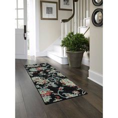 Better Homes and Gardens Dark Gray Jacquard Textured Print Area Rugs or Runner