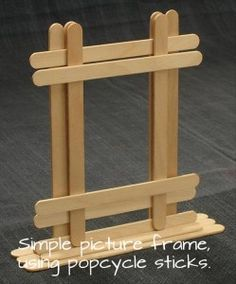 a popcycle picture frame