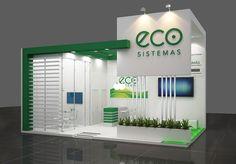 Eco Sistemas - Projeto desenvolvido para a feira hospitalar 2015 Exhibition Stall Design, Exhibition Stands, Exhibit Design, Exhibition Ideas, Big Modern Houses, Exibition Design, Kiosk Design, Small Buildings, Gate Design