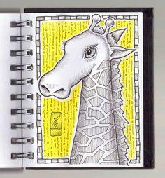 Ilustrador Alexiev Gandman: Jirafa en mi Anotador mirala en http://alexievga.blogspot.com.ar/2012/08/jirafa-en-mi-anotador.html