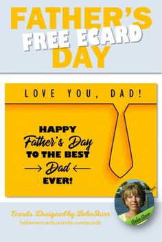 Father's Day ecard for the best dad ever! Tell him with a special ecard for Father's Day. They are free to send and fun to receive. | Ecard | Father's Day | bebestarrcards.wixsite.com/ecards Fathers Day Ecards, Happy Fathers Day, My Father, Best Ecards, Best Dad, Favorite Holiday, Fourth Of July, Holiday Ideas, Dads