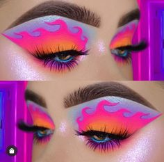 42 newest halloween makeup ideas to complete your look 29 Makeup Eye Looks, Eye Makeup Art, Colorful Eye Makeup, Dark Makeup, Crazy Makeup, Skin Makeup, Makeup Inspo, Gothic Makeup, Makeup Ideas