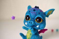 Needle Felted Baby Dragon by Anna Stavytska.