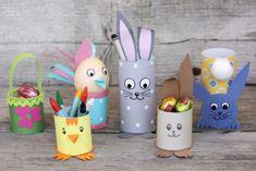 Veľkonočné tvorenie z roliek z toaletného papiera - foto postup Easter Arts And Crafts, Easter Activities For Kids, Diy And Crafts, Paper Flower Backdrop, Paper Flowers, Diy For Kids, Crafts For Kids, Origami, Backdrops