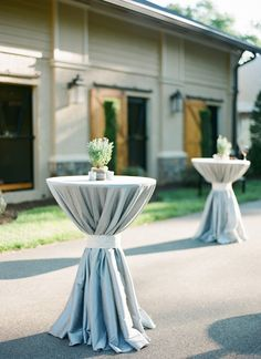powder blue cocktail tables | Chris Isham #wedding