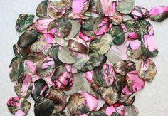 Pink Camouflage Petals Pink Camo Petals Satin by IDoDoodads, $10.95