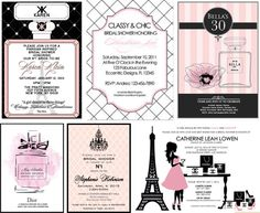 Parisian inspired bridal shower invitation shower invitations how to throw a chanel themed bridal shower filmwisefo