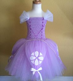 Sofia the first tutu dress by SimiPrincessBoutique on Etsy