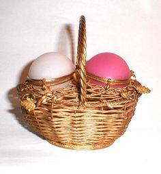 Pretty French 19th Century Opaline Egg Basket