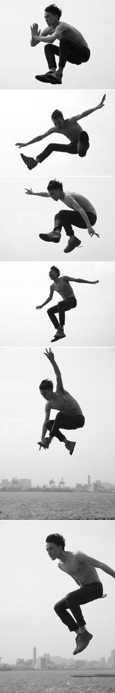 Jumping poses. More