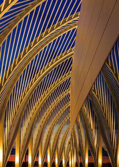 Florida Polytechnic University, Lakeland, Florida by Santiago Calatrava Architects City Architecture, Futuristic Architecture, Architecture Details, Bridge Structure, Lakeland Florida, Santiago Calatrava, Skylights, Entrance Gates, Sunshine State