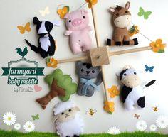 Lit bébé Mobile - Cour de ferme - animaux de ferme / lit Mobile - décoration…
