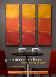 Great inexpensive home decor ideas from Styrofoam. Check out the other two books also at this link.