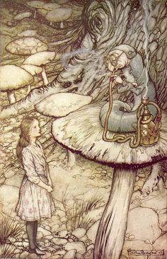 Arthur Rackham Vintage Print Alice in Wonderland Fantasy