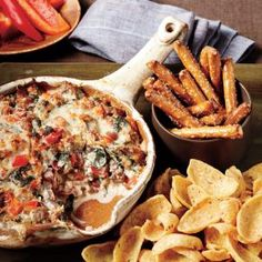 100 Top Tailgating Dips and Appetizers | Sausage, Bean, and Spinach Dip | MyRecipes.com