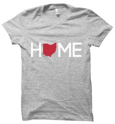 $19.50 - Ohio Home T-Shirt by Twelve9Printing