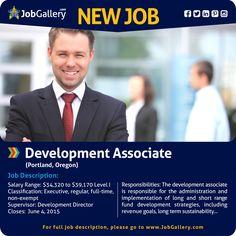 SEEKING A DEVELOPMENT ASSOCIATE - PORTLAND, OR  #jobs #jobopening #marketing   #marketingjobs #administrativejobs   #portlandoregon #oregon #oregonjobs #job #gallery #jobgallery #jobposting