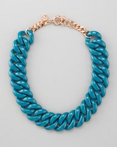 Candy Turnlock Necklace, Teal at CUSP.