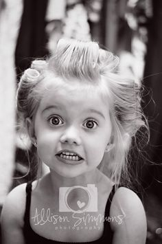 Children's Photography, kids, 3 year old picture, rollers, big curls, black & white, dress up, little girl, fun, beautiful, big eyes, ASP, Allison Simmons Photography, toddler photo ideas