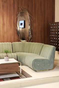 Midcentury design trends at Salone del Mobile 2017 | Discover more @essentialhomeeu interior design ideas at https://www.brabbu.com/partners-brabbu/ | #isaloni #salonedelmobile #livingroom