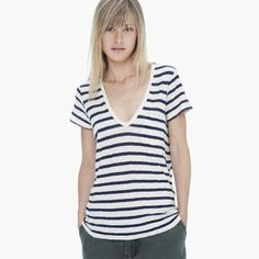 STRIPE POCKET TEE - James Perse $95. 360 degrees perfect - inside and out!