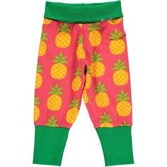Pineapple ribbed pants from Maxomorra, made from 100% Organic Cotton. Sweatshop free ethical and sustainable fashion. From Maxomorra, available at Modern Rascals.