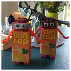 Juice Box robots. Cute kids party idea.