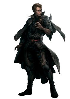 Thief, assassin, dark spell, rpg, npc, concept art, character, tattoo