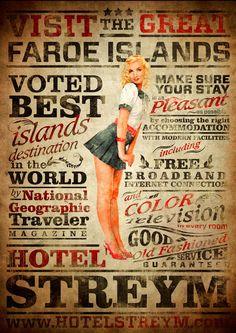 Hotel Streym Vintage Posters by Petur Ellefsen, via Behance