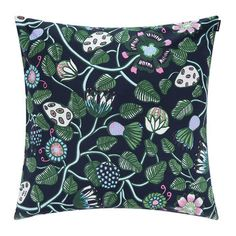 Bring bold design to your home with this Pieni Tiara cushion cover from Marimekko. Made from cotton, it features the distinctive Tiara pattern against a solid black ground. A welcome addition to Scatter Cushions, Throw Pillows, Luxury Sofa, Girl House, Marimekko, Home Accessories, Decorative Pillows, Cover, Pattern