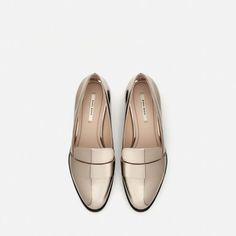 74fcfcd24b9ec Image 6 de MOCASSINS LAMÉS de Zara Chaussures Femme, Mocassins Métalliques,  Chaussures Zara,