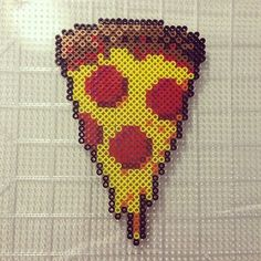 Pizza slice perler beads by Jake Tastic