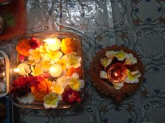 diwali floating candles...with flowers .. to light up your house and boost the positivity..!