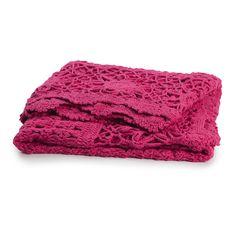 AURA new Crochet Throw in Beetroot