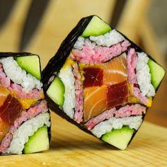 Que tal estos ejemplos de #sushi creativo? Anímate a prepararlos!