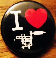 "I LOVE TATTOOS pinback button badge 1.25"" $1.50 plus shipping!"
