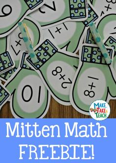 Fun winter themed activity for learning addition@