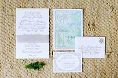 Watercolor wedding invitations | Lexie Bush http://southernweddings.com/2016/07/25/alabama-farm-wedding-by-lexie-bush/