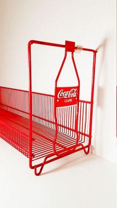 Coca Cola Classic Coke Red Shelf Book Holder Rack, Metal Vintage IT468 MRBB DeAnnasAttic
