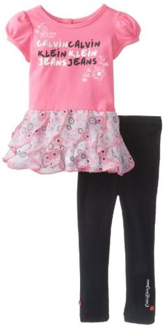 Save $32.20 on Calvin Klein Baby-Girls Infant Tunic with Leggings; only $12.30