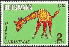 Stamp: Giraffe (Botswana) (Christmas 1970) Mi:BW 68,Sn:BW 68,Yt:BW 220