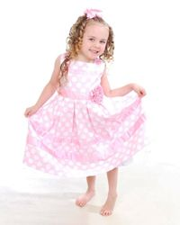 1e72d52437fd9 This is Maddison in a pretty Mafana Kids smocked dress in baby blue. Childrens  Outlet